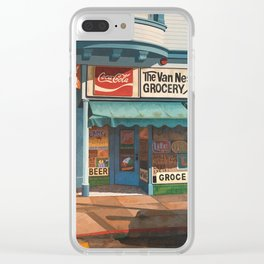 The Van Ness South Grocery 17 & SVN San Francisco 1994 Clear iPhone Case