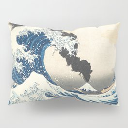 Great Wave off Kanagawa Mount Fuji Explosion Pillow Sham