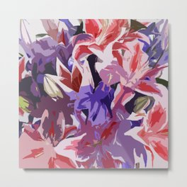So Many Colorful Flowers by FreddiJr Metal Print