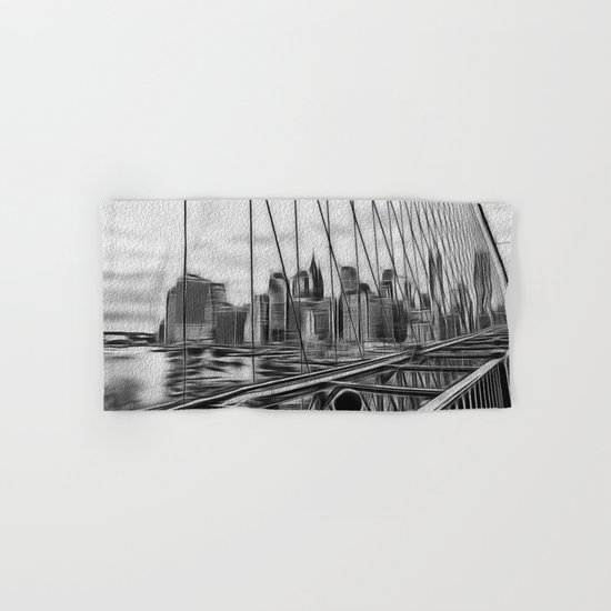 Manhattan NY Hand & Bath Towel