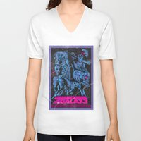 guardians of the galaxy V-neck T-shirts featuring Guardians of the Galaxy NEON by Messypandas