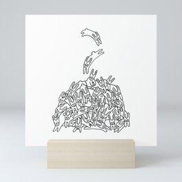 Pile of Rabbits Mini Art Print