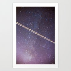 Boeing through the Milky Way Art Print