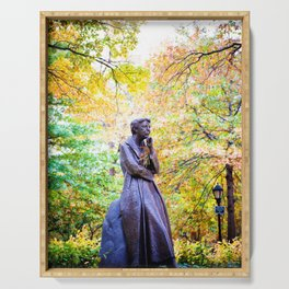Eleanor Roosevelt Statue in Riverside Park Serving Tray