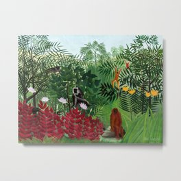 Henri Rousseau - Tropical Forest with Monkeys Metal Print