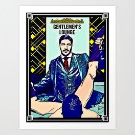 Gentlemen's Lounge Art Print