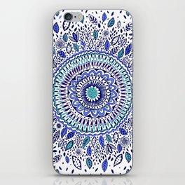 Indigo Flowered Mandala iPhone Skin