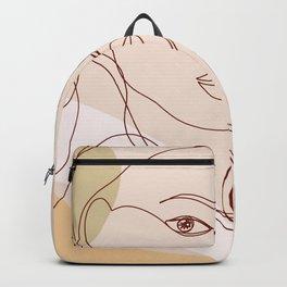 Line-art Portrait - Fierce Girl Power Backpack