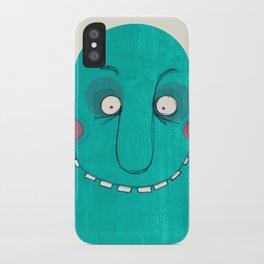 Blue Cupface iPhone Case