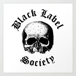 BLACK LABEL SOCIETY P3 TOUR DATES 2019 UDANG Art Print