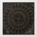 Glaston Abbey Clock by fernandaschallen
