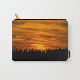 Cloudy Sunset With Forest Line - Scenic Landscape - #society6 #decor #buyart Carry-All Pouch