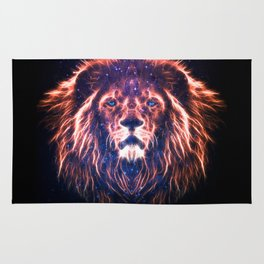 Glowing Lion Face Rug