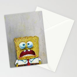 SPONGEBOB SCREAMING Stationery Cards