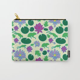 Jumping Frogs of Lily Pad Valley Carry-All Pouch
