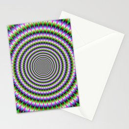 Brain-Buster in Blue Green Pink and Orange Stationery Cards