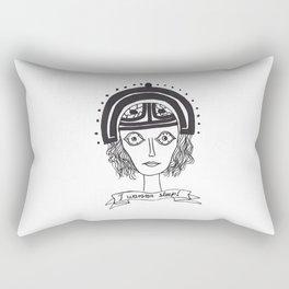 I wanna sleep Rectangular Pillow