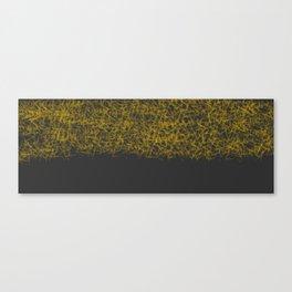 Yellow black Canvas Print