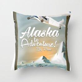 Alaska to adventure! Throw Pillow
