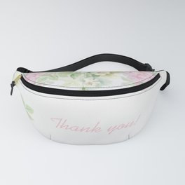 Thank you quote & Rose flowers Fanny Pack