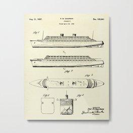 Steamship-1937 Metal Print