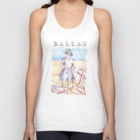 dallas Tank Tops featuring Dallas, Texas by Howard Coale