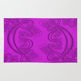 Dazzling Violet Fractal Rug