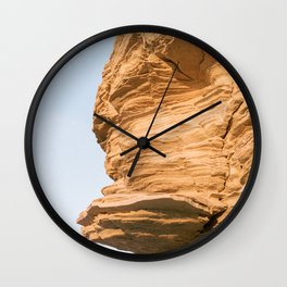 Rock With A Face | Fine Art Travel Photography | Shot on Ibiza Wall Clock