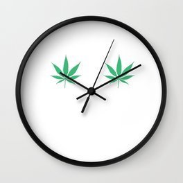 Happy Weed Smiley Face Wall Clock