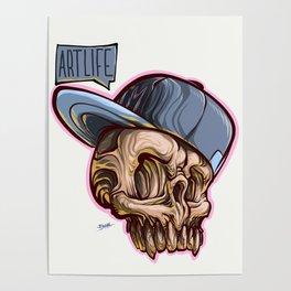 Art Life Skully Poster