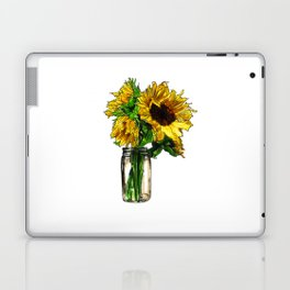 Sunflower In Mason Jar Laptop & iPad Skin