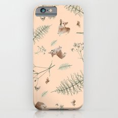 pale pink holiday corgi iPhone 6s Slim Case