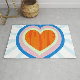 heart of love, orange Rug