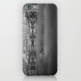 Mountain Reflections - Black & White iPhone Case