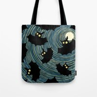 bats Tote Bags featuring Bats by Rceeh