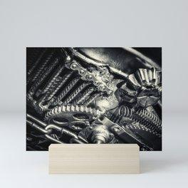 Machine Part BNW Abstract II Mini Art Print