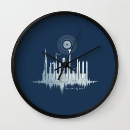 Music Rules My World Wall Clock