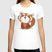 red panda T-shirts featuring Red panda by Toru Sanogawa