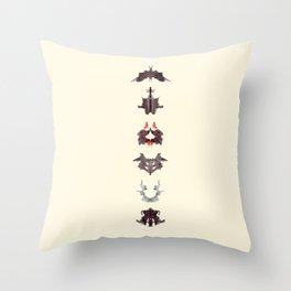 rosrach test Throw Pillow