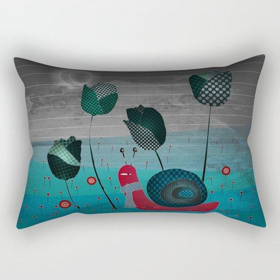 snail in a bad mood Rectangular Pillow