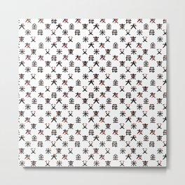 Hieroglyph seamless pattern Japan word Metal Print