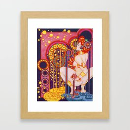 Red Head Klimt Framed Art Print