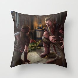 Three Rogues Throw Pillow