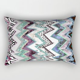 Cool Blues Zigzags Abstract Rectangular Pillow