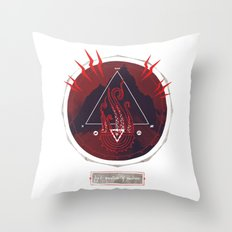 Mountain of Madness (red) Throw Pillow