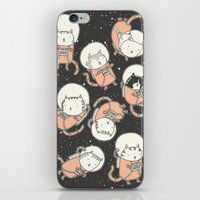 cats iPhone & iPod Skins featuring Cat-Stronauts by Drew Brockington