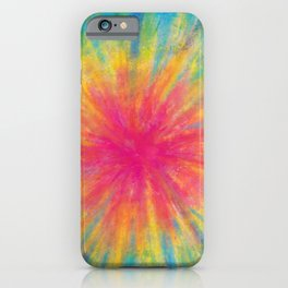 Tie Dye Rainbow Vibrant Saturated Painting Drawing Coloring iPhone Case
