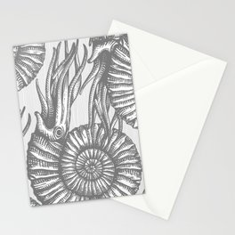 AMMONITE COLLECTION GRAY Stationery Cards