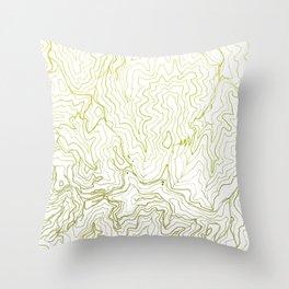 Secret places I - handmade green map Throw Pillow