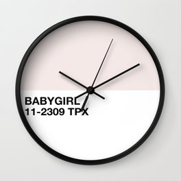 babygirl Wall Clock